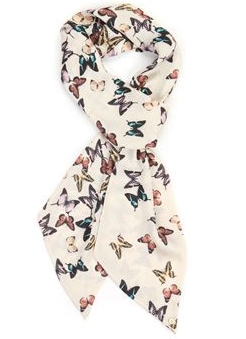 Butterfly print scarf