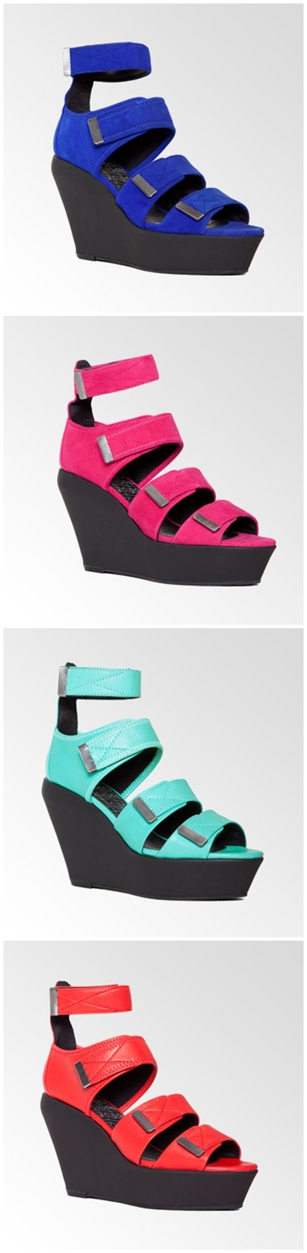 tenerife wedges vagabond, pink weges, red wedges, blue wedges, vagabond kilehæl