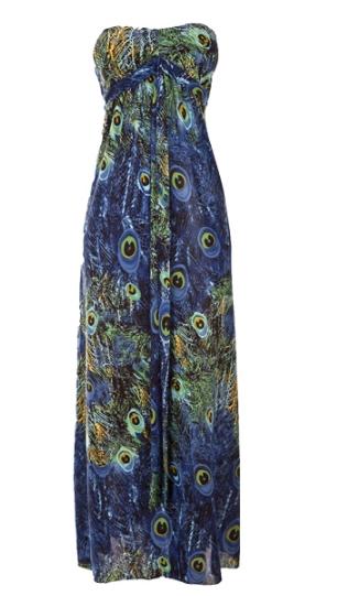 Club L Peacock Maxi Dress 30£