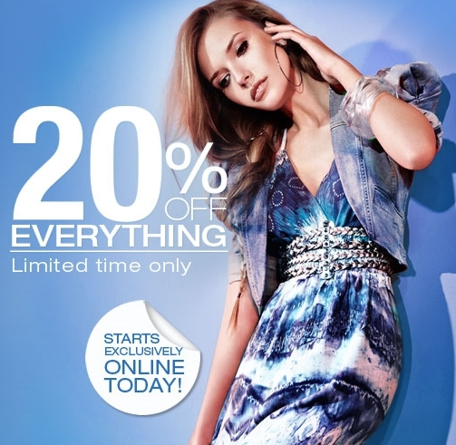 Discount off everything Dorothy Perkins
