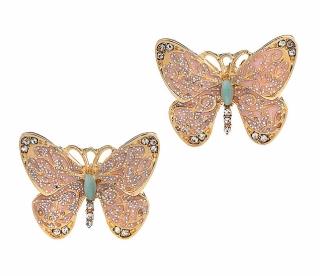 Glitter Butterfly Studs