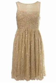Nude Droplet Bead Dress
