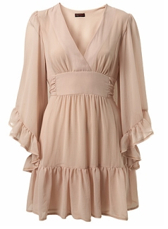 Nude Pink Big Sleeve Dress 45£