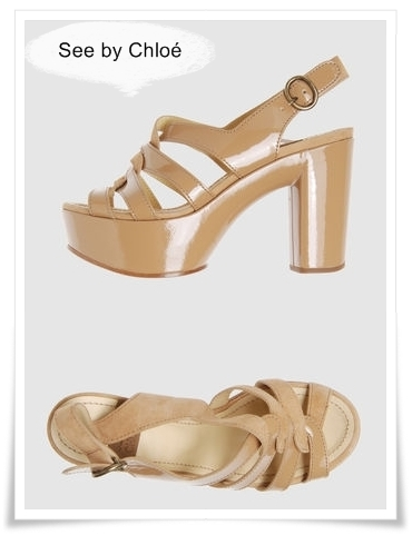 SEE BY CHLOE plateau nude sandals