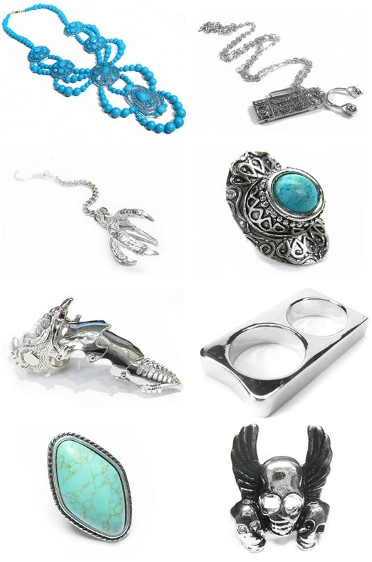 coco.se, coco smykker, coco jewellery, klo øreringe, turkise sten ring, søvl ringe, vinge ring, skull ring, silver rings