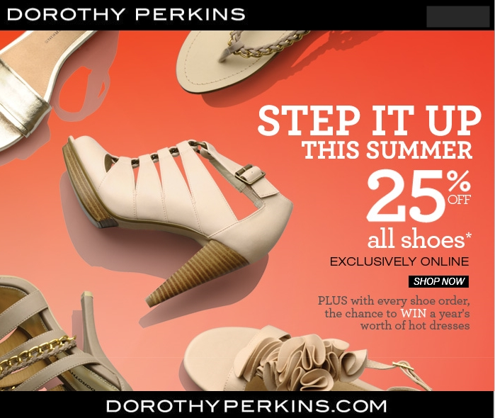 discount on shoes Dorothy Perkins