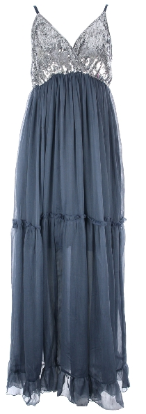 Kat Sequin Maxi Dress In Blue 25£