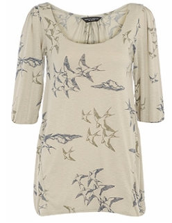 Khaki swallow smock tunic 22£