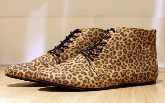 H&M leopard shoes, hm leopard sko