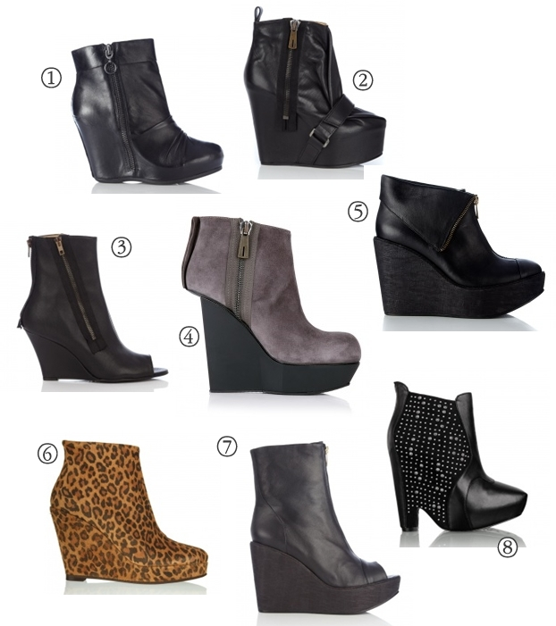 Hybrid Suede Cut In Wedge Ankle Boot Acne, Leopard Print Wedge Boots Mentor,  Uma Zip Wedge Boot Ash,  Zipper Wedge Ankle Boot Acne,  Closed Toe Wedge Zip Ankle Boot Beau Coops, Zoyla Studded Cut Out Wedge Ankle Boot Sam Edelman,  Black Admire Strap Wedge Ankle Boot Acne