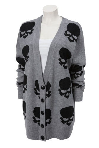 skull knitted cardigan, gina tricot sweater