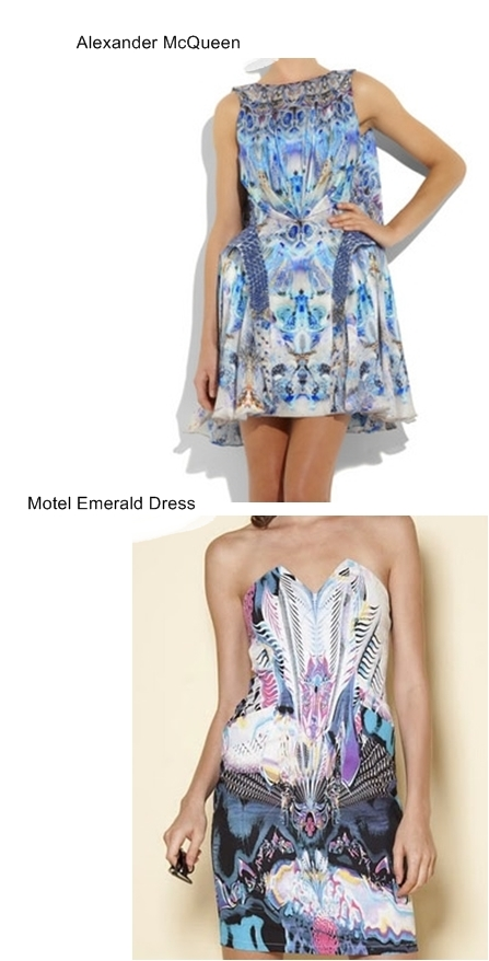 Alexander McQueen Jellyfish-print silk dress lookalike