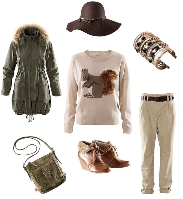 H&M egern sweater, H&M rabat 10%, rabat kode H&M oktober, parkajakke, cuff armbånd, H&M wedges, hat hm