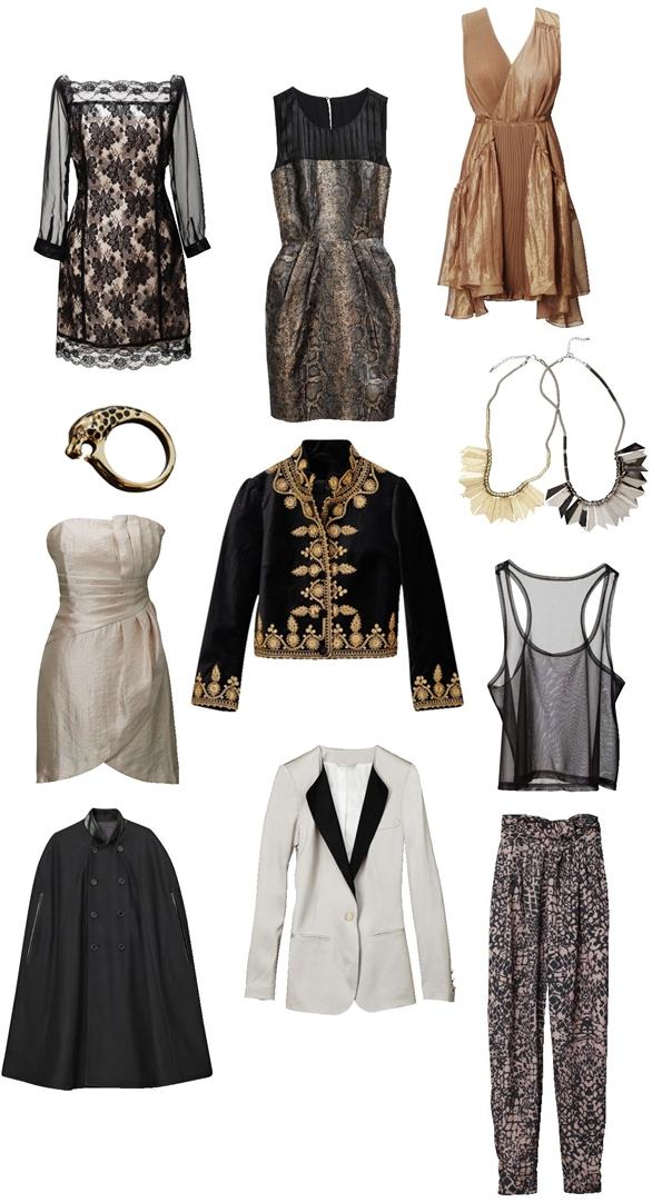 H&M nyt, to farvet blazer, two colored blazer, white dress, hvid kjole, sheer top, gennemsigtig top, blonde kjole hm, sort kappe H&M, cape H&M