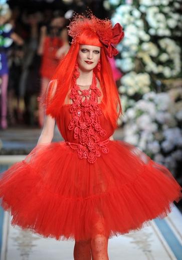 lanvin H&M red dress, rødkjole strutskørt H&M Lanvin