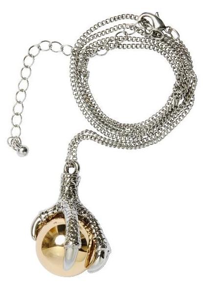 klo halskæde H&M, claw necklace