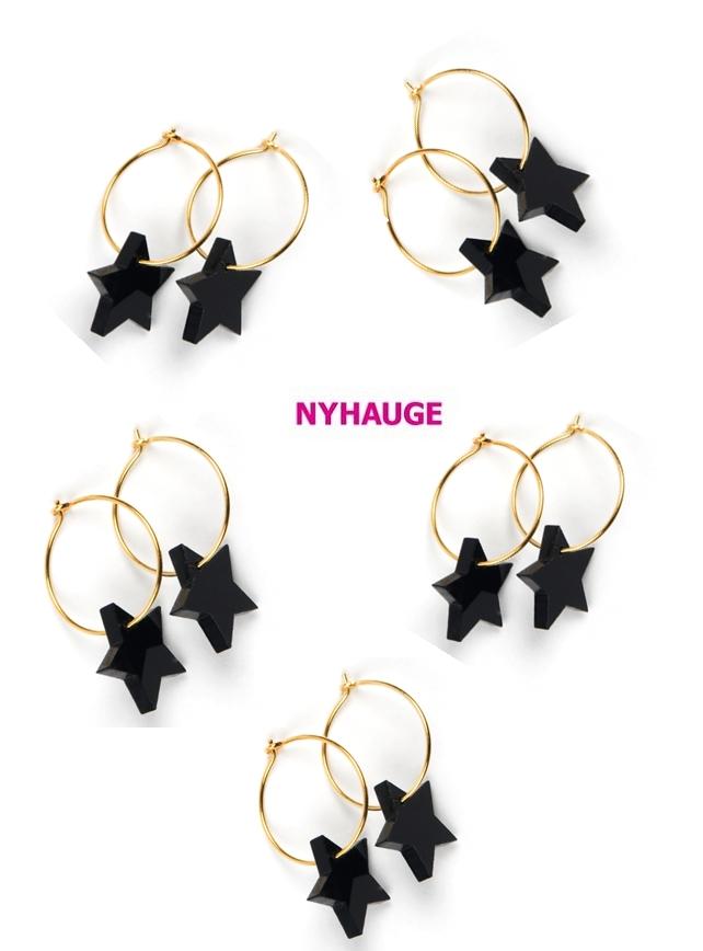 nyhauge  smykker, nyhauge stjerne øreringe, star earrings