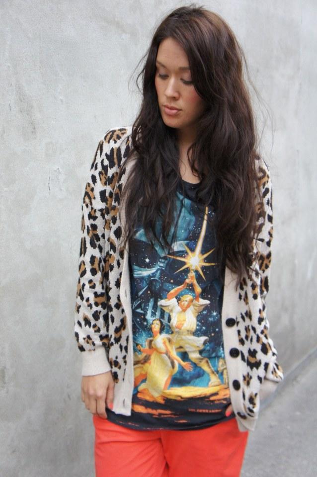 leopard cardigan gina tricot