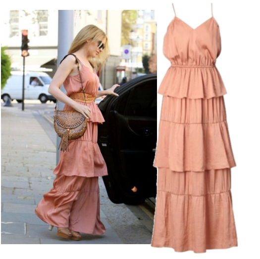 kylie minogue hm, kylie minogue H&M, maxi dress