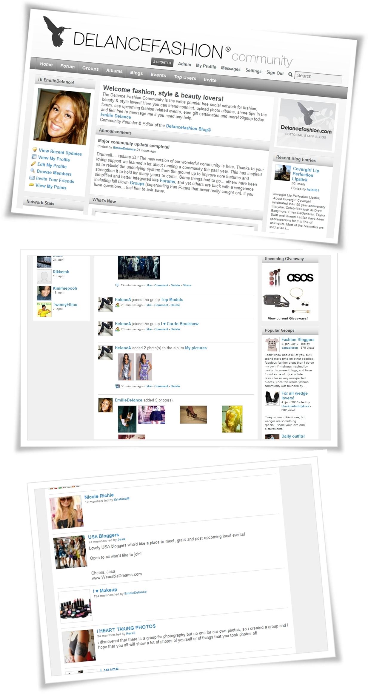 fashion community, delancefashion community