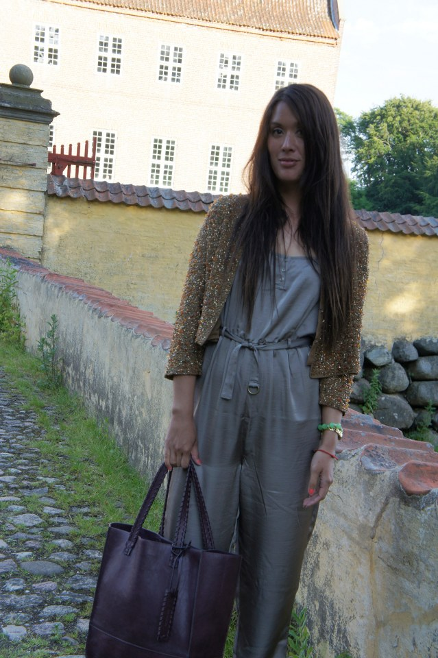 jumpsuit weekday, sequin jacket H&M the party collection, palliet jakke H&M party collection, weekday buksedragt