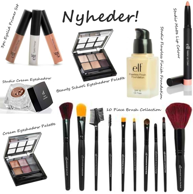 nyheder fra elf cosmetics, Studio Flawless Finish Foundation, Studio Matte Lip Colour, 10 Piece Brush Collection, Studio Cream Eyeshadow, Cream Eyeshadow Palette, 3pc Eyelid Primer Set, Beauty School Eyeshadow Palette, new products from elf