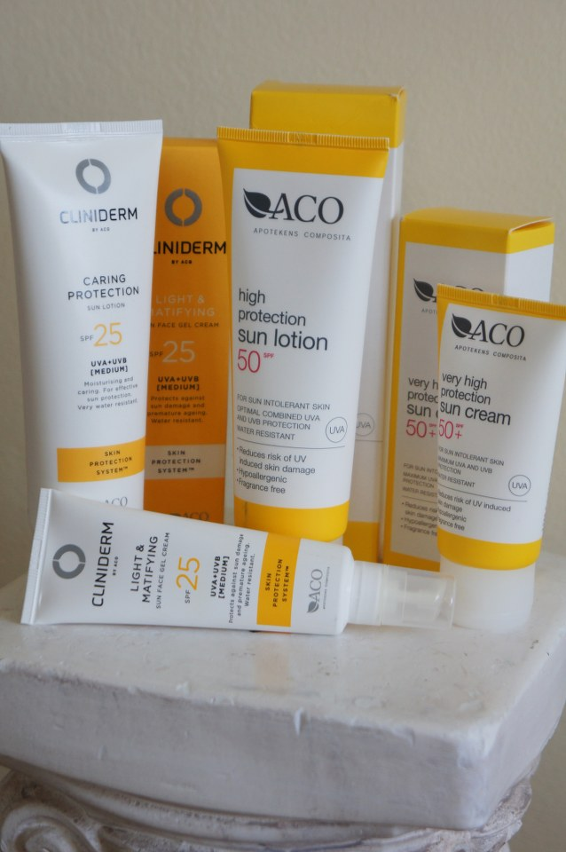 aco, solcreme, cliniderm, sunscreen