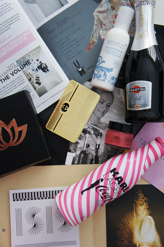 gucci guldkort, karl lagerfeld cola light, cph fashion week invitationer