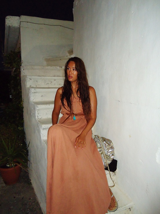 grækenland, greece 2011, maxikjole H&M, lyserød sommerkjole, pink maxi dress hm