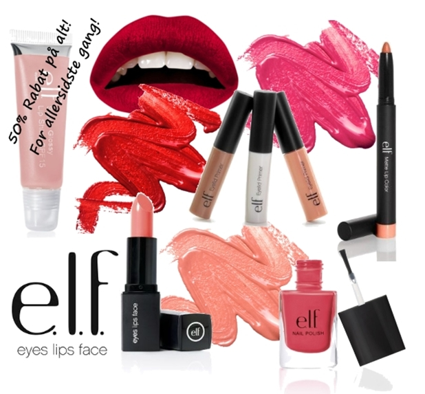 elf cosmetics 50% rabat, elf makeup , elf danmark