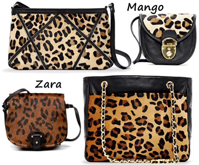 zara leopard taske, leopard clutch mango