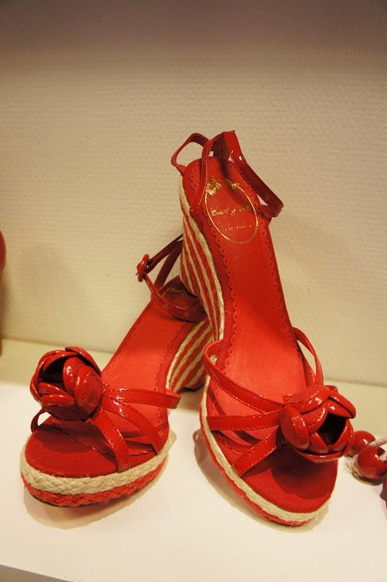 edith & ella, røde sandaler, edith og ella sko