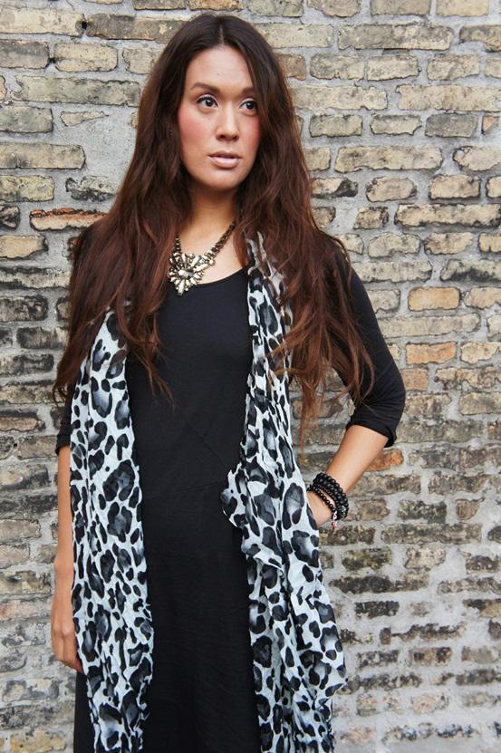leopard tørklæde, delancefashion