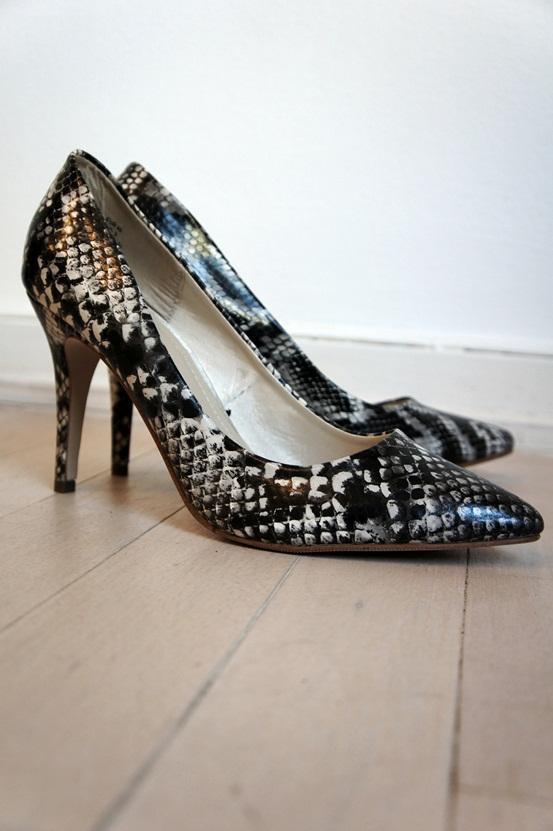 slangeprints sko, snake print pumps, H&M slange sko