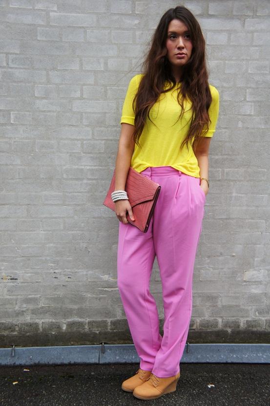 pink bukser h&M, pink pants H&M
