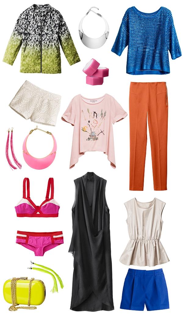 hm ss 12, forårsnyheder H&M 2012, sommernyheder h&M spring news H&M 2012, neonfarver
