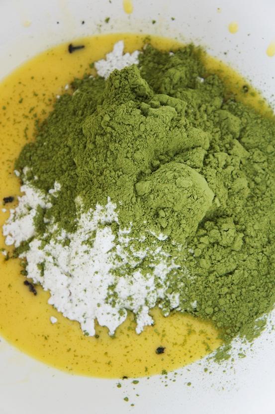 matchapulver, grønte pulver