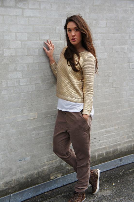 guld sweater H&M ,gold sweater H&M