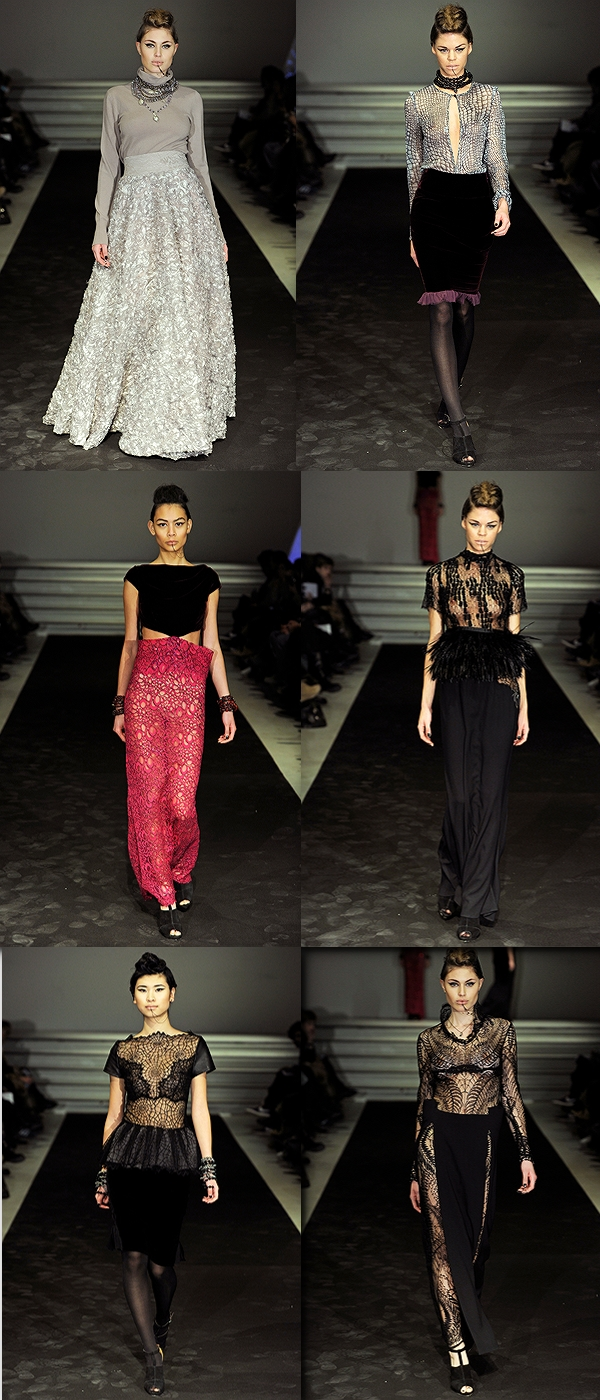 avia of scandinavia aw 12, copenhagen fashion week, modeuge, catwalk, Black Dakini Jewels