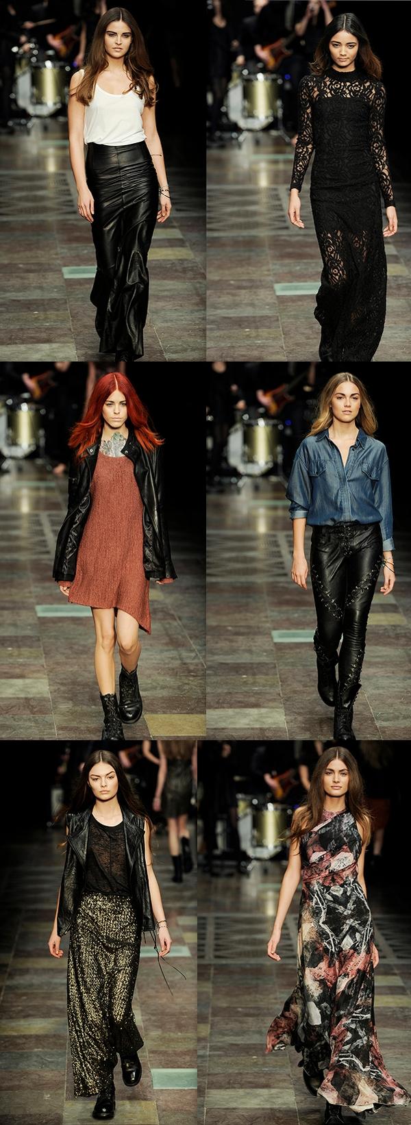 gestuz aw 12, gestuz copenhagen fashion week, snørre læderbukser, paliet maxi nederdel, modeuge