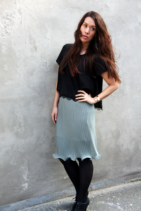 dagens outfit, todays outfit, blå nederdel, blue skirt