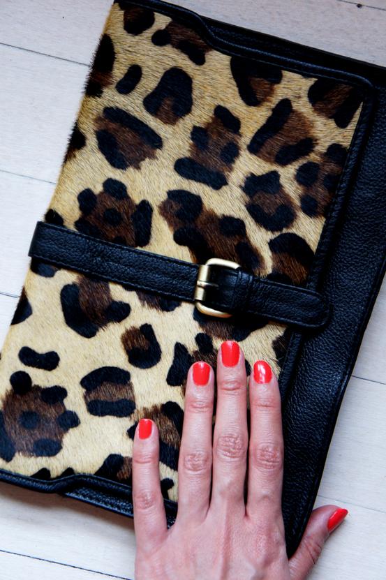 leopard clutch, boozt