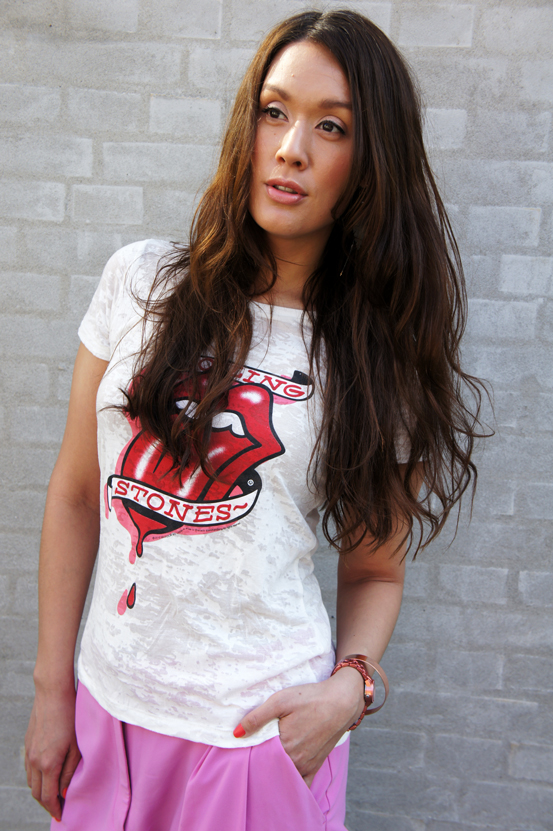 rolling stones t-shirt H&M, band t-shirt