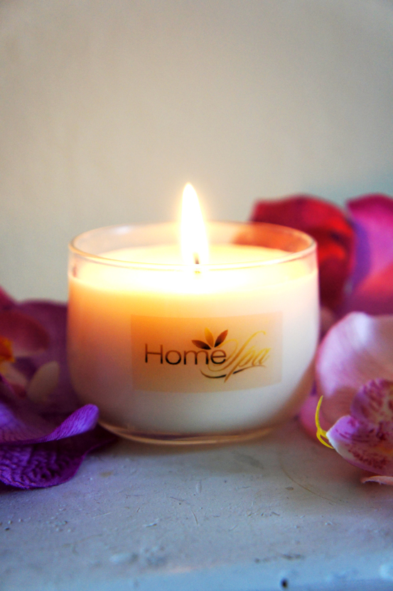 homespa, duftlys, økologisk duftlys, scented candles, organic scented candles, duftlys som massageolie