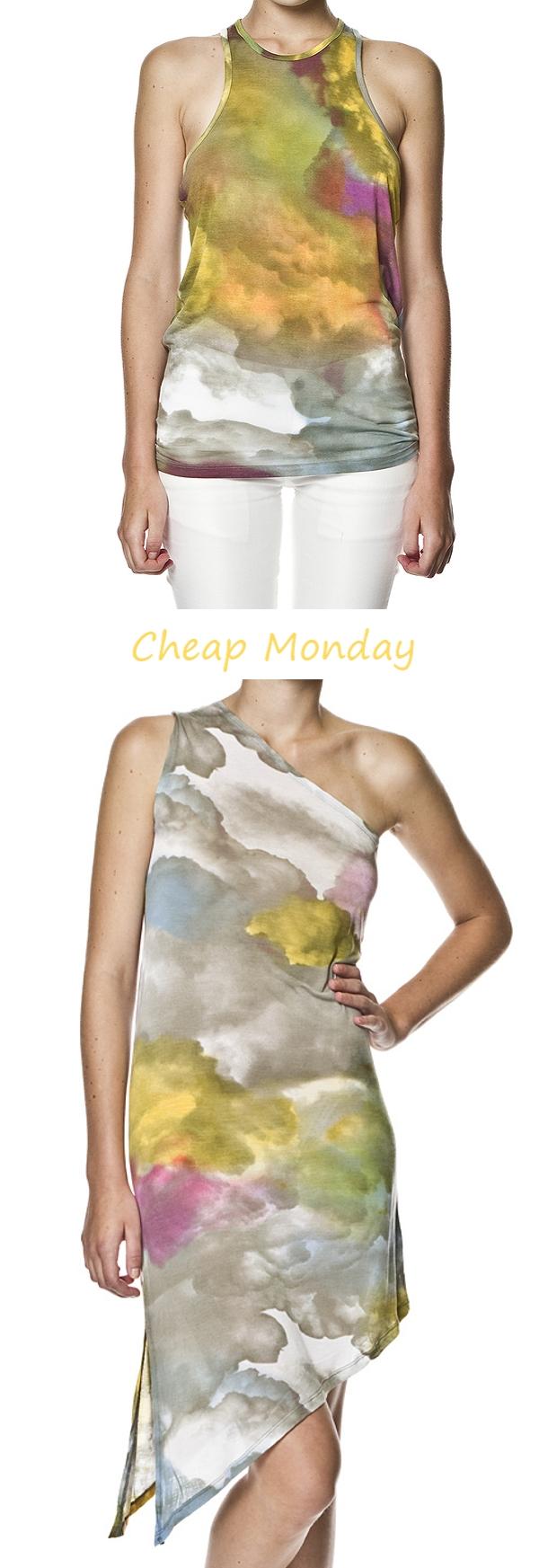 cheap monday, Tany Dress Cloud Print, cloud tank top
