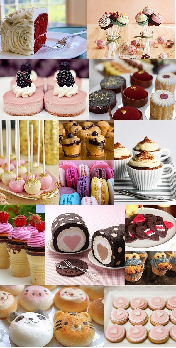 cute cakes, cup cakes, pop cakes