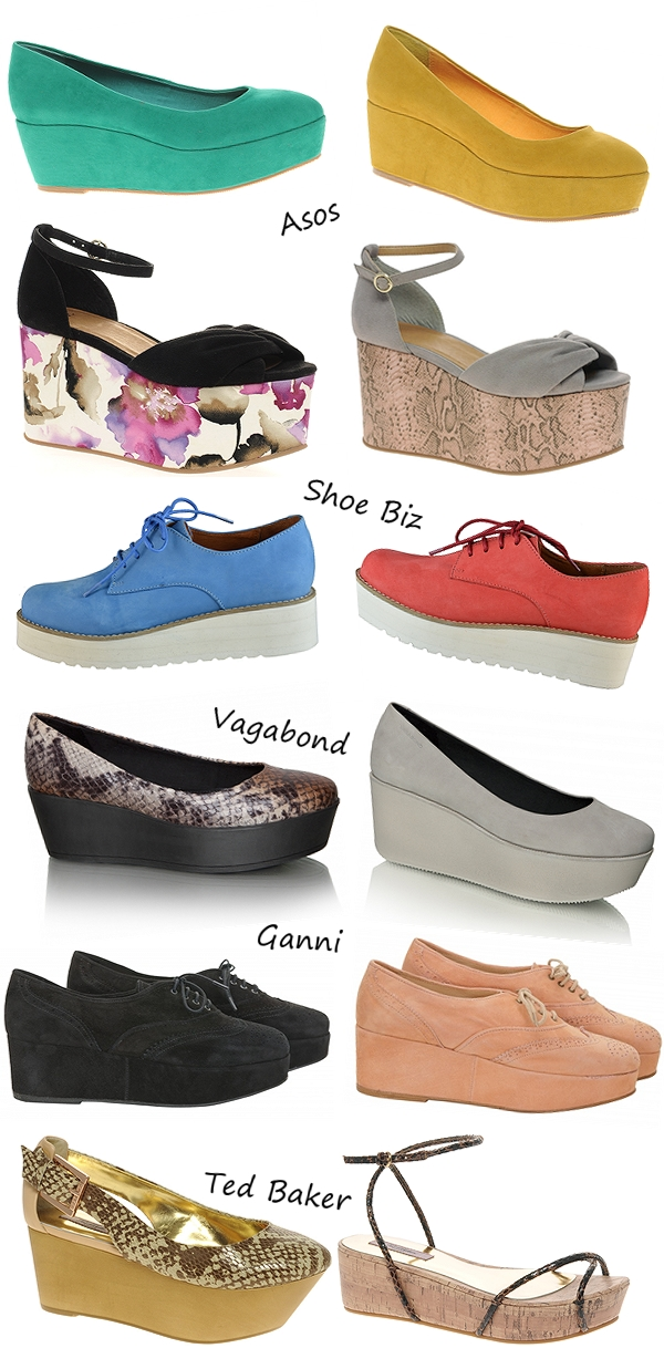 flatforms, wedges, shoe biz sko, ganni sko, asos shoes, asos wedges, ganno  shoes, ted baker sandals