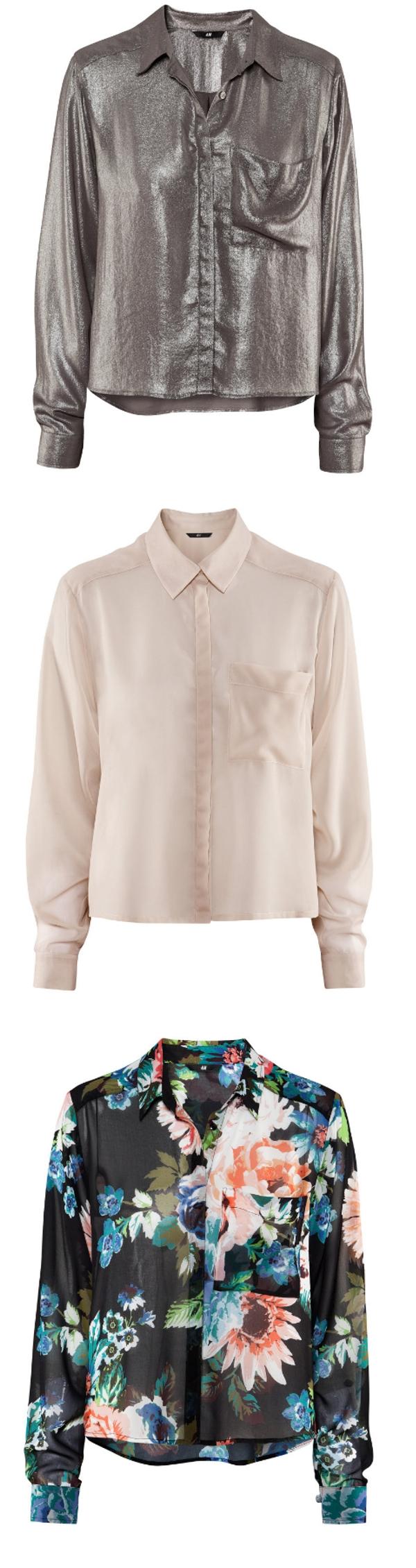 H&M skjorte, blomstret skjorte hm, flower print shirt hm, oudderfarvet skjorte, nude shirt
