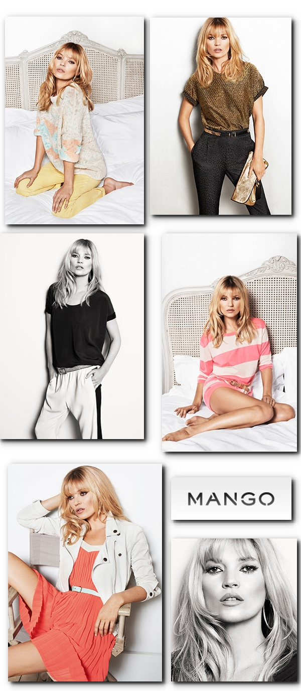 kate moss Mango campagin ss 2012, kate moss mango 2012, kate moss mango model, sort hvide bukser, black white pants, mago spring collection, pastel sweater mango