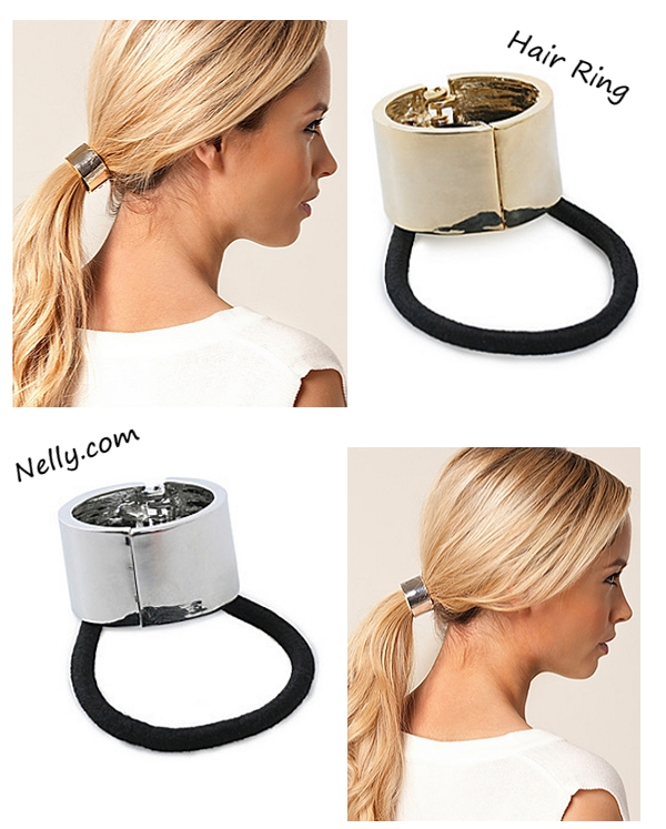 ponytail, hair ring, hår ring, sølv hår ring elastik, hair ring gold